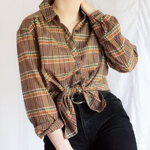Tops - Vintage Plaid Shirt